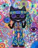 Happy Hippie Cat