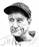 Lou Gehrig Preparatory Sketch