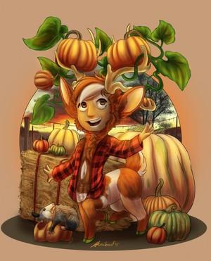 Pumpkin Deer