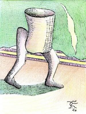 Walking Receptacle