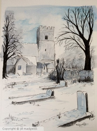 Winter at St Mary's Felpham