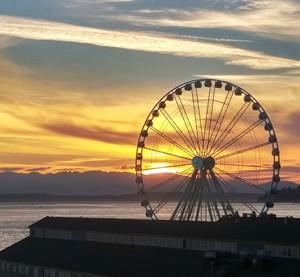 Great wheel at sunset