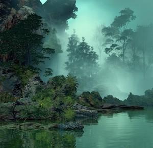 Hazy River Bank