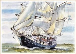 The barkentine Thalassa