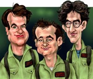 Ghostbusters (1984) - Caricature Art