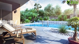 Interesting Modern 3D Exterior Pool Design