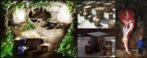 Lava Theme Park And Expo Custom Pieces