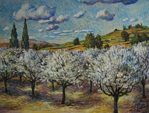 Orchard with White Blossoms