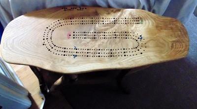 Cribbage Table White Oak