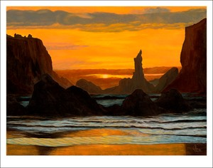 Sunset in the lagoon Giclee print