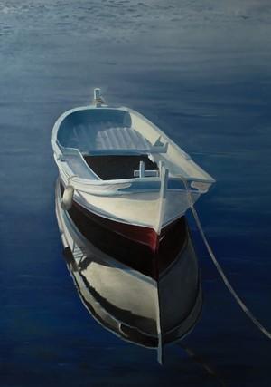 Boat Reflection, Adriatic Sea, Croatia