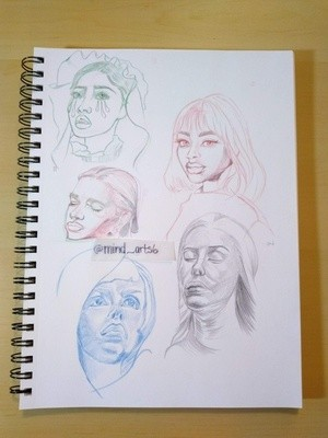 Page 3 Head Sketches