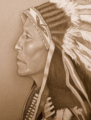'Chief Strange Horse' Upper Brule Sioux