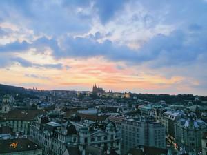 Prague in the dusk