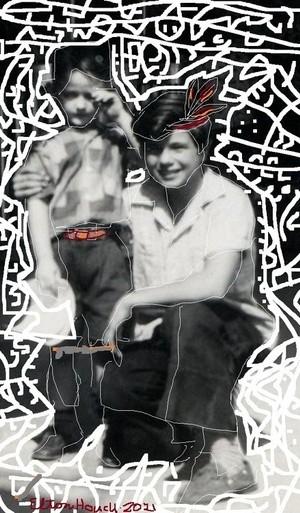 Elton and Little Beaver (Bobby Blake)..(c) 2021,,Elton Houckk