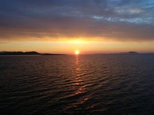 Setting Sun near Vancouver Island