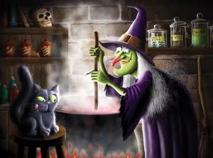 Witch With Cauldren