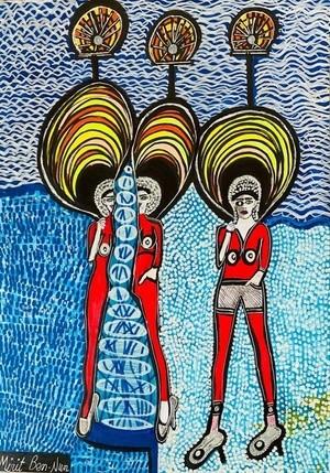 Women in Israel today. Modern artist Mirit Ben-Nun