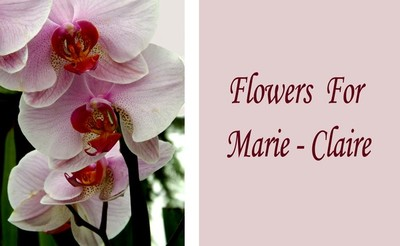 Flowers For Marie-Claire