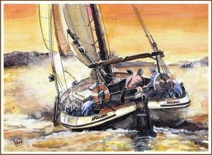 A wet sailingtrip