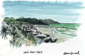 Sketch from Waihi beach