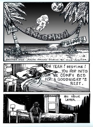 Deflicted Comix #4, Insomnia, Page #1