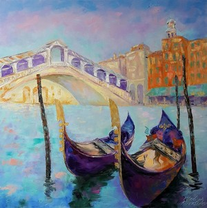 painting *Venezia.Ponte di Rialto*