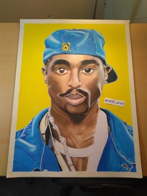 Tupac portrait (unfinished)