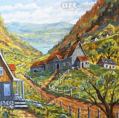 Charlevoix Valley Large original oil painting