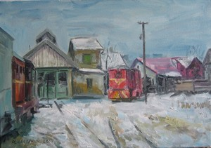 'TRAIN DEPOT' 2014. Oil on canvas, 35x50cm.