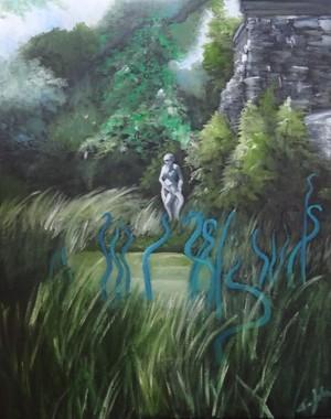 Blue Chihuly at Cheekwood