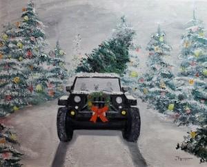 Hunter's Christmas Jeep