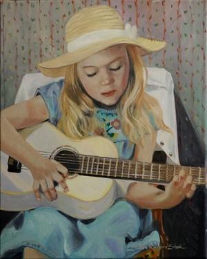 Ingrid Playing the Guitar