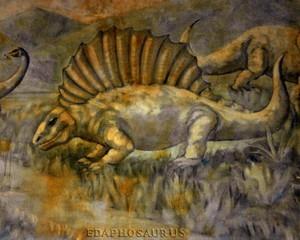 Dinosaur mural Buffalo Zoo