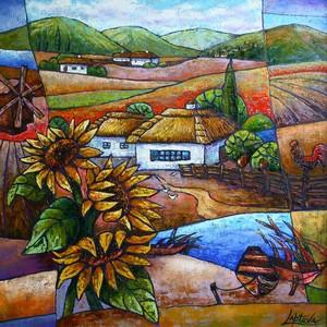 Sunflowers Ukrainian motifs