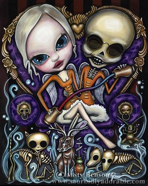 Temperance: Morbidly Adorable Tarot Art