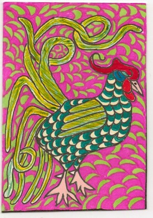 Rooster's Art Card 6 of 9 by RRRRV (c) 2011