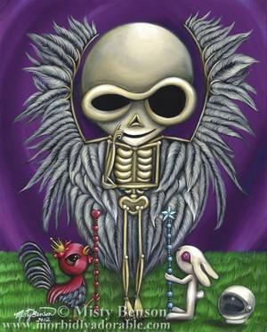 Two of Wands: Morbidly Adorable Tarot Art