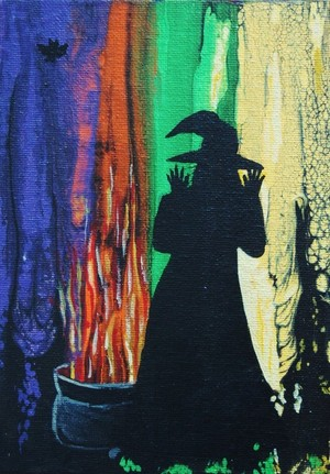 Witch With Caldron