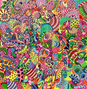 (available) CAT, 80*80*2cm, 2021 colorful detailed abstract