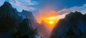 Golden Dawn Over Mountains