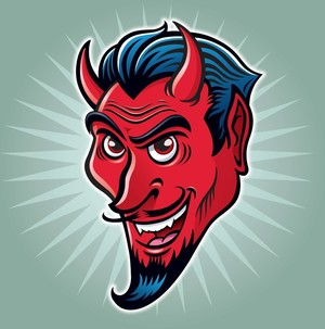 Wicked Smiling Devil Face