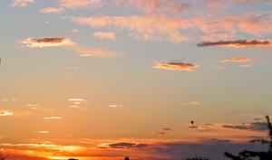 Sunset in November 2007
