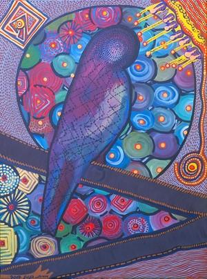 free bird art painting israeli painter modern