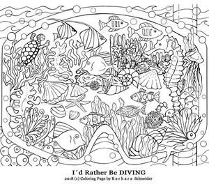 Illustrations for Coloring- published in Coloring Books & on sites