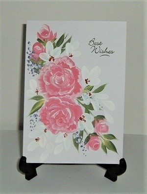 hand painted greetings in acrylics