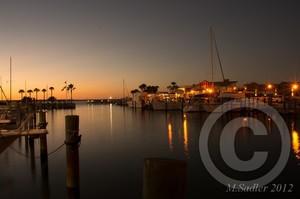 Dunedin Marina at sunset
