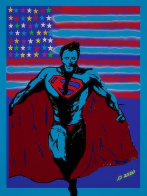 Man of Steel Blue 3D 2020 stars