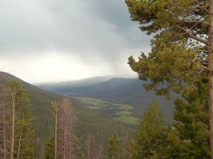 Rain in Rocky Mountain National Park