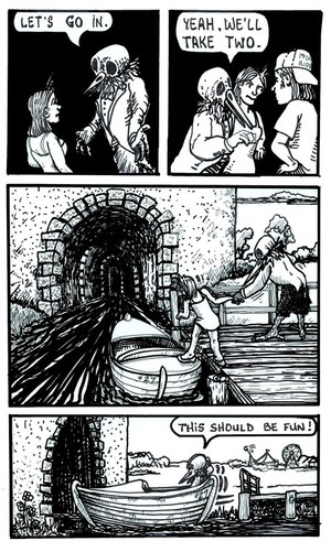 Deflicted Comix #5, BoatRide, Page #2